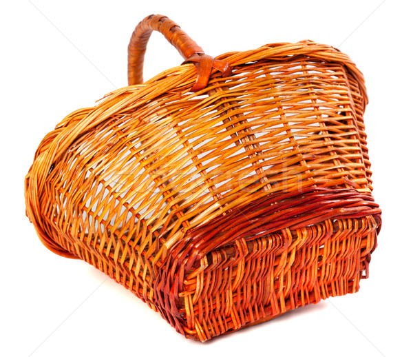 Empty wicker basket Stock photo © BSANI