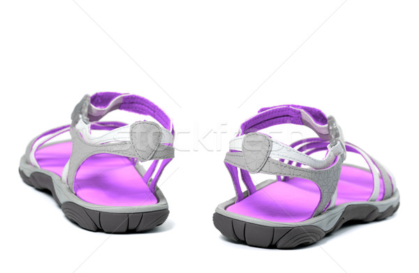Summer sandals. Back view. Stock photo © BSANI