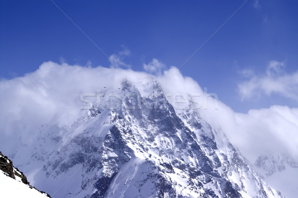 Caucasus Mountains in cloud Stock photo © BSANI