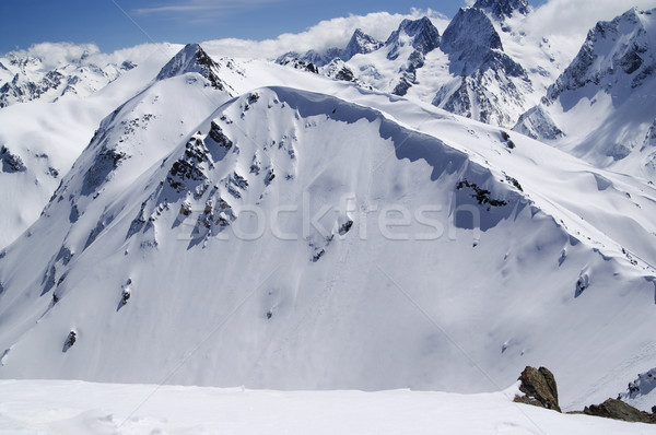 Stock photo: Snow cornice