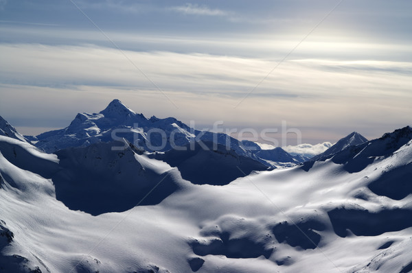 Caucasus Mountains. View from Elbrus in evening. Stock photo © BSANI