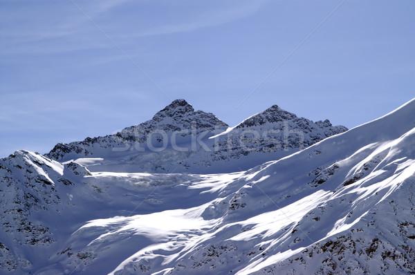 Cáucaso montanas deporte paisaje nieve invierno Foto stock © BSANI