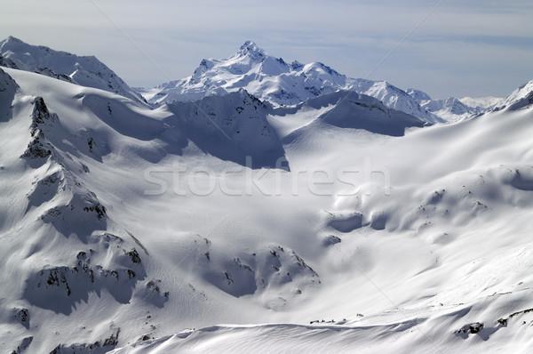 Caucasus Mountains. View from mount Elbrus. Stock photo © BSANI