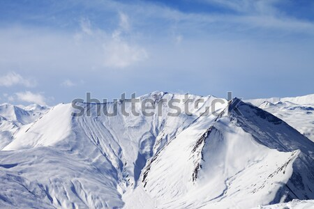 Panoramic view on off-piste slope at nice day Stock photo © BSANI
