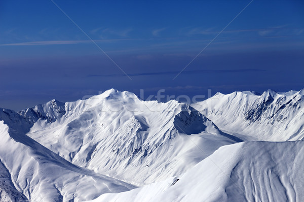 View on off-piste slopes and multicolor blue sky at nice sunny e Stock photo © BSANI