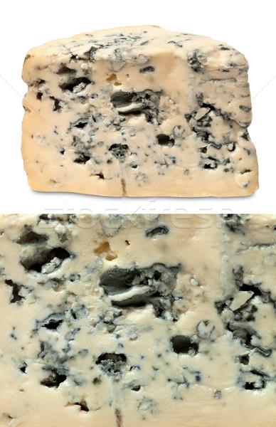 Kék kollázs darab makró márványsajt háttér Stock fotó © BSANI