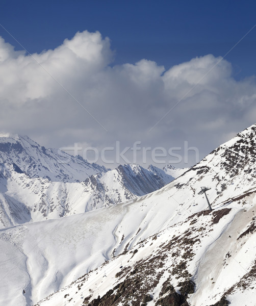Off-piste slope in little snow year Stock photo © BSANI