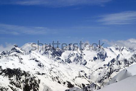 Kaukasus bergen landschap winter Blauw Stockfoto © BSANI