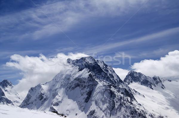 コーカサス 山 雲 風景 氷 冬 ストックフォト © BSANI