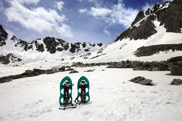 Snowshoes in snow mountain Stock photo © BSANI