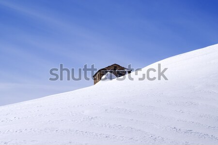 The old brick house in middle of ski slope Stock photo © BSANI