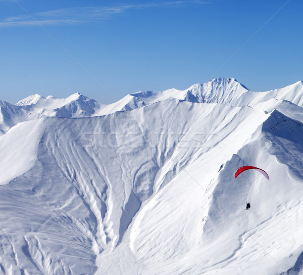 Sky gliding in high mountains Stock photo © BSANI