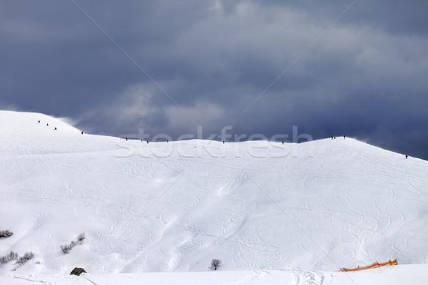 Helling grijs hemel slechte weer dag kaukasus Stockfoto © BSANI