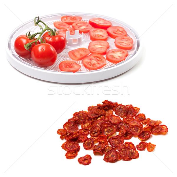 свежие томатный подготовленный сушат Ломтики изолированный Сток-фото © BSANI