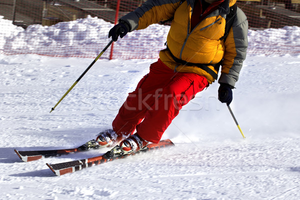 Esquiar terminar sol inverno dia estrada Foto stock © BSANI