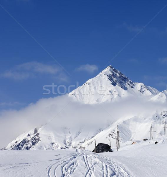 Esquí Resort cáucaso montanas agradable sol Foto stock © BSANI