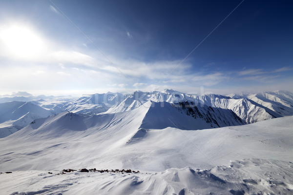 Off-piste slope and sky with sun Stock photo © BSANI