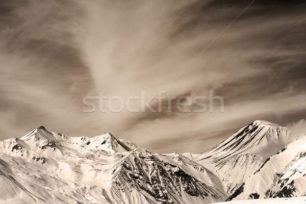 Sepia mountains in windy day Stock photo © BSANI