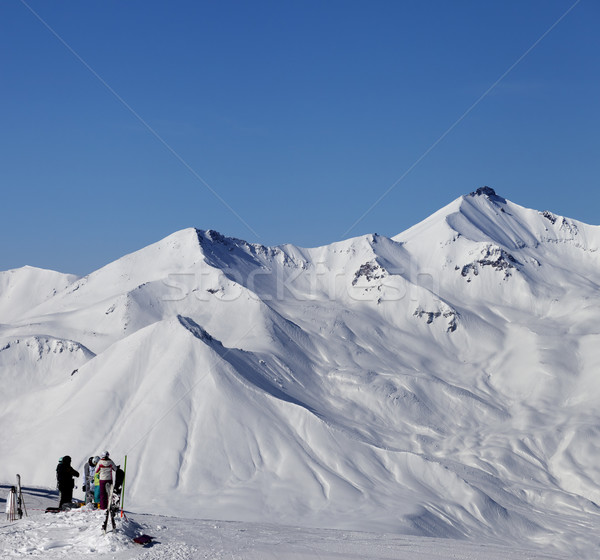 Top of ski slope at nice sun day Stock photo © BSANI