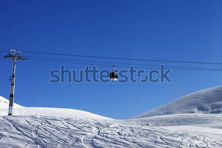Ski Resort chutes de neige caucase Azerbaïdjan Photo stock © BSANI