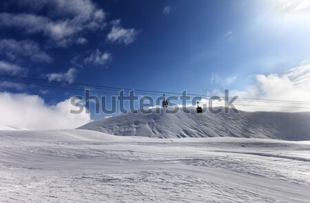 View from ski lift Stock photo © BSANI
