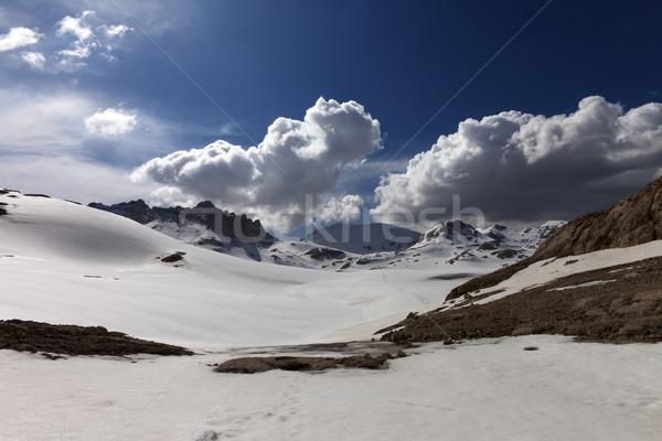 снега плато Турция центральный гор небе Сток-фото © BSANI