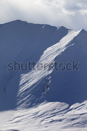 Speed riding in evening mountains Stock photo © BSANI