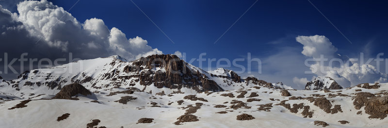 Panorama of snowy winter mountains Stock photo © BSANI