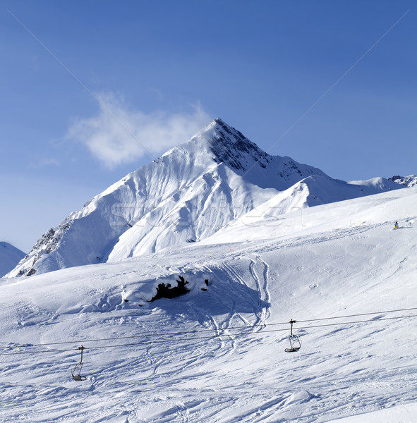 View on off piste ski slope Stock photo © BSANI