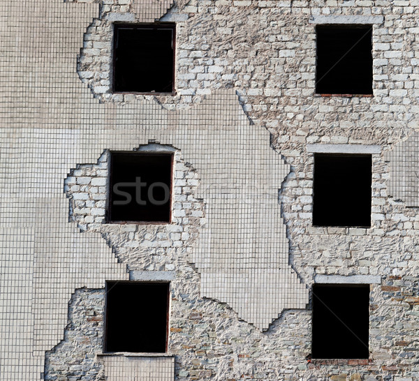 Wall of old destroyed house Stock photo © BSANI