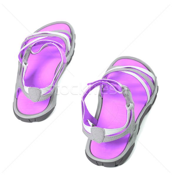 été vue sandales isolé blanche haut Photo stock © BSANI