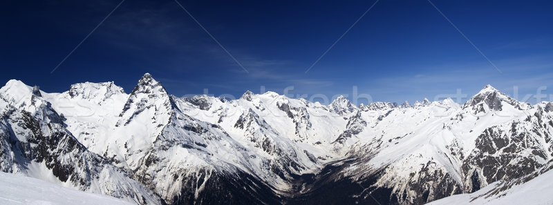 Montanha panorama cáucaso ver paisagem Foto stock © BSANI