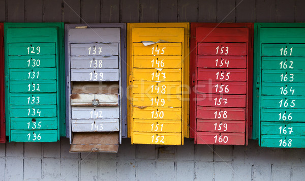 Old post boxes Stock photo © BSANI