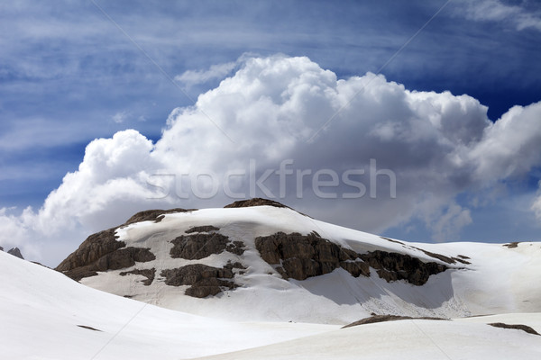 Rocks with snow cornice Stock photo © BSANI
