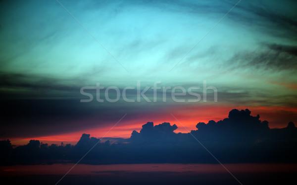 Multicolor sunset sky summer sea  Stock photo © BSANI