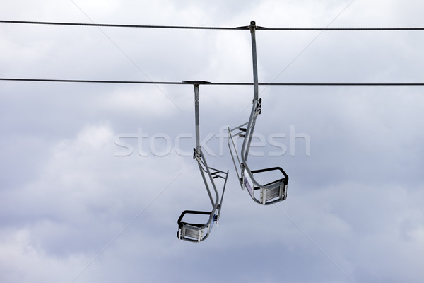 Chair-lift and overcast sky Stock photo © BSANI