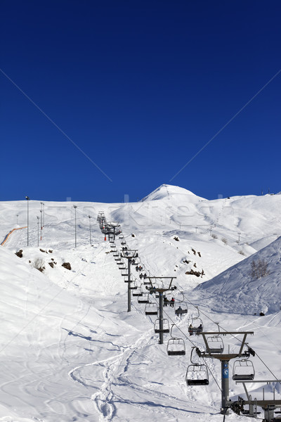Hiver montagnes Nice jour caucase Photo stock © BSANI