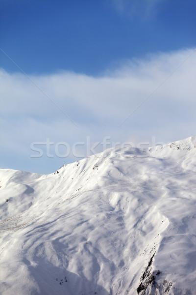 Off-piste slope in nice day Stock photo © BSANI