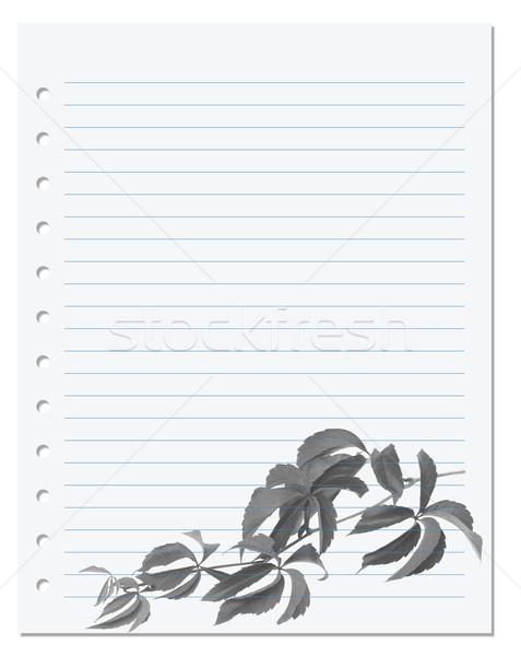 練習帳 バージニア州 小枝 葉 ストックフォト © BSANI