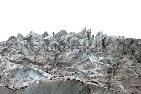 Icefall on white background Stock photo © BSANI