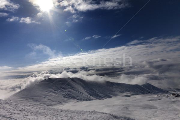 Off-piste slope in clouds Stock photo © BSANI