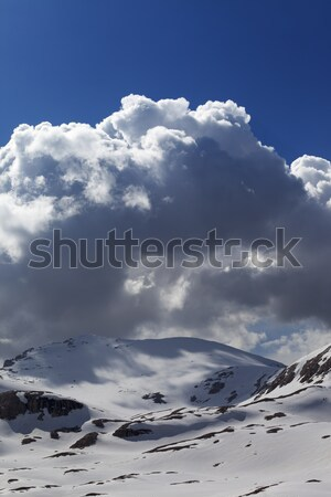 Snow mountains and blue sky with cloud Stock photo © BSANI