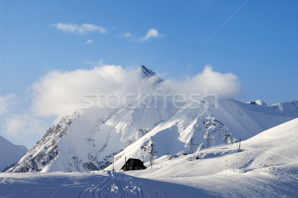 Snow skiing piste Stock photo © BSANI