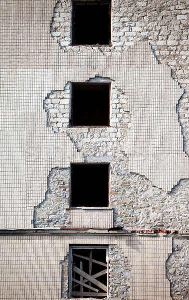 Brick wall of old destroyed house Stock photo © BSANI