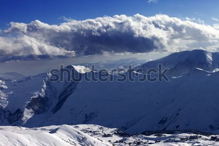 Off-piste slope at evening Stock photo © BSANI