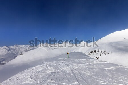 Ski slope at nice sunny day Stock photo © BSANI