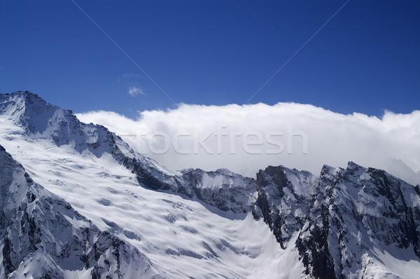 Buzul kafkaslar dağlar manzara dağ kış Stok fotoğraf © BSANI