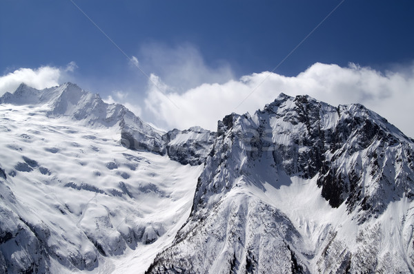 Montagna ghiacciaio caucaso montagna panorama ghiaccio Foto d'archivio © BSANI