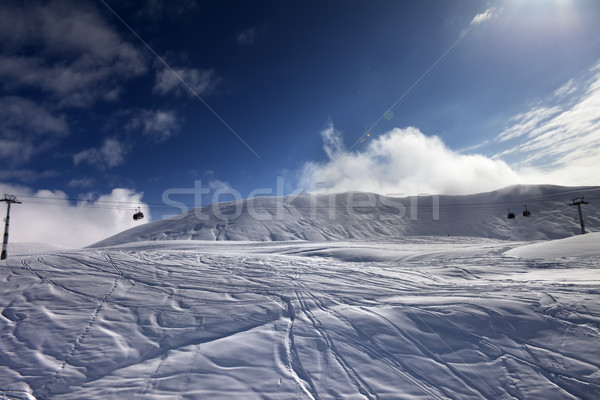 Off-piste ski slope and gondola lift Stock photo © BSANI