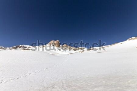 Snowy plateau and rocks Stock photo © BSANI